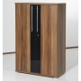 2 Door Lockable Walnut Filing Cabinet