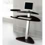 Milan Black Glass Computer Desk
