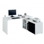 Powerline White/Black Computer Workstation CPL560